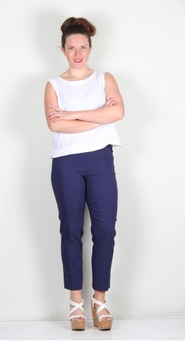 Robell Trousers Bella 09 Cuff 7/8 Crop New French Blue