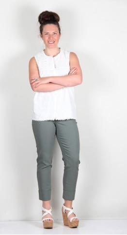 Robell Trousers Bella 09 Cuff 7/8 Crop Ivy Green