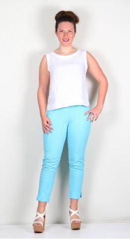 Robell Trousers Bella 09 Seersucker 7/8 Crop Turquoise