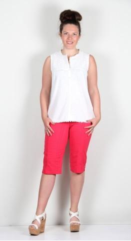 Bella 05 trousersRobell Trousers Bella 05 Shorts Seersucker Raspberry