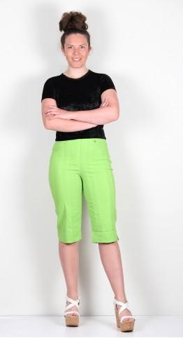 Robell Trousers Bella 05 Shorts Seersucker Kiwi Green