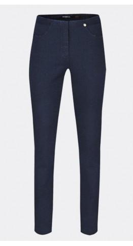 Robell Trousers Bella Full Length Jean Dark Navy Denim