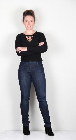 Robell Trousers Elena Jeans Navy Wash Denim