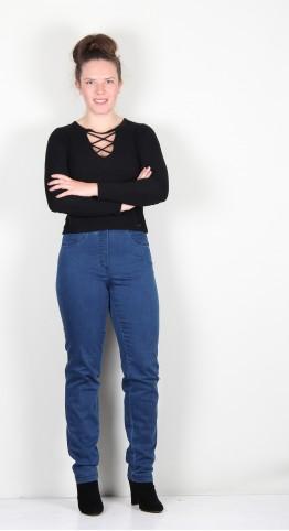 Robell Trousers Bella Full Length Jean Indigo Denim
