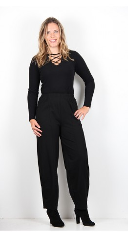 Sahara Clothing Ponte Bubble Pant Black