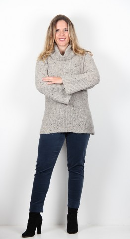 Sahara Clothing Funnel Neck Sweater Calico