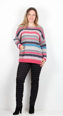Sahara Clothing Multi Colour Stripe Sweater