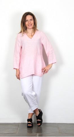 Sahara Clothing Ticking Stripe Linen Tunic