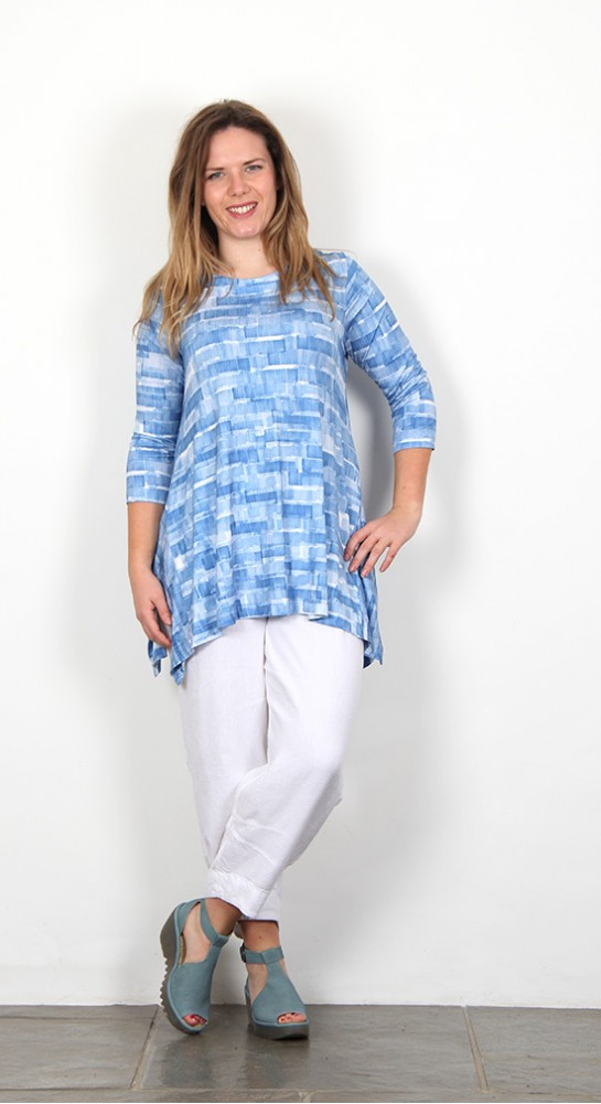 Sahara Clothing Sky Stripe Print Jersey Tunic