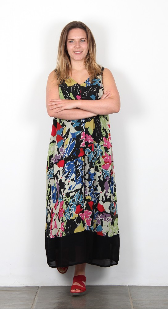 Sahara Clothing Vintage Floral Print Dress Multi