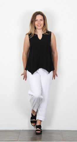 Sahara Clothing Organza Linen Asymmetric Vest