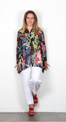 Sahara Clothing Vintage Floral Print Shirt Multi