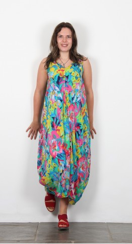 Sahara Clothing Floral Bubble Dress Multi