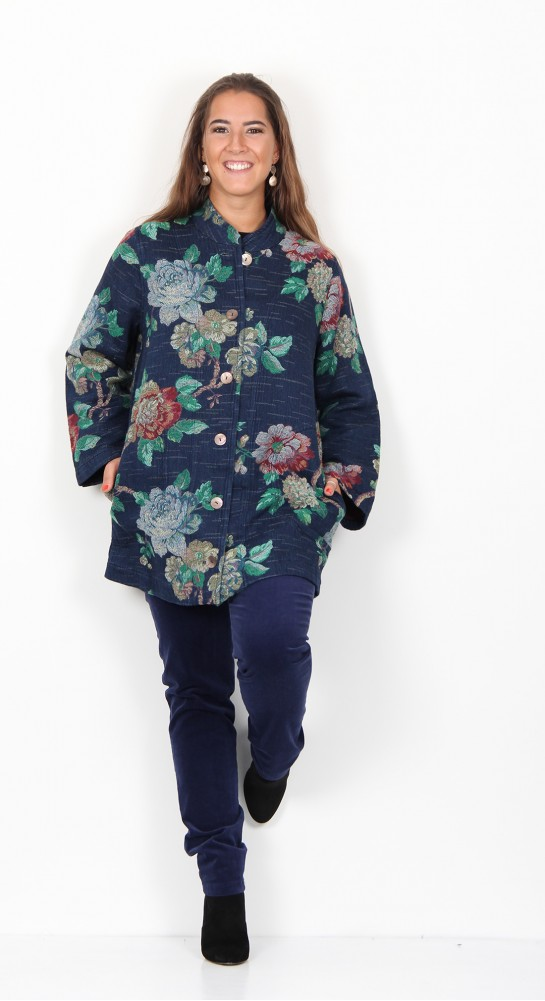 Sahara Clothing Bouquet Jacquard Jacket Denim