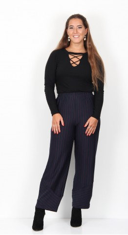 Sahara Clothing Broken Double Stripe Trouser Night Scarlet