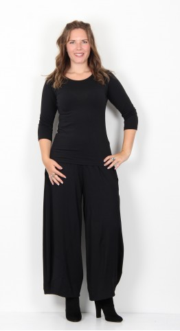 Sahara Clothing Drapey Jersey Bubble Trouser Black