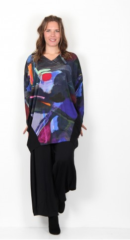 Sahara Clothing Paintbox Print Jersey Tunic Multi