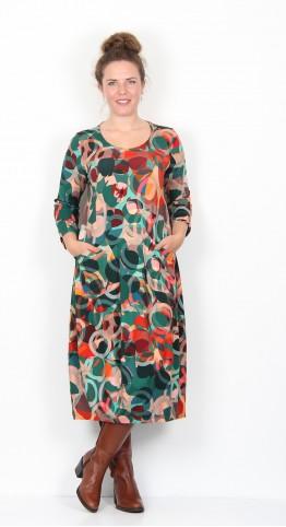 Sahara Clothing Circle Print Jersey Dress Multi