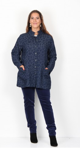Sahara Clothing Heart Jacquard Jacket Denim