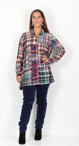 Sahara Clothing Multi Coloured Tartan Shirt