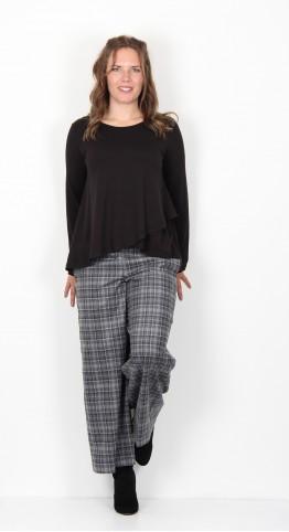 Sahara Clothing Jersey Cross Over Top Black