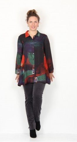 Sahara Clothing Painterly Block Shirt Multi