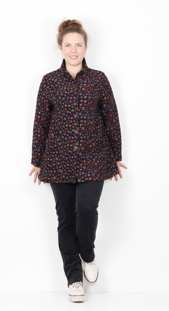 Sahara Clothing Polka Dot Jacquard Jacket Multi