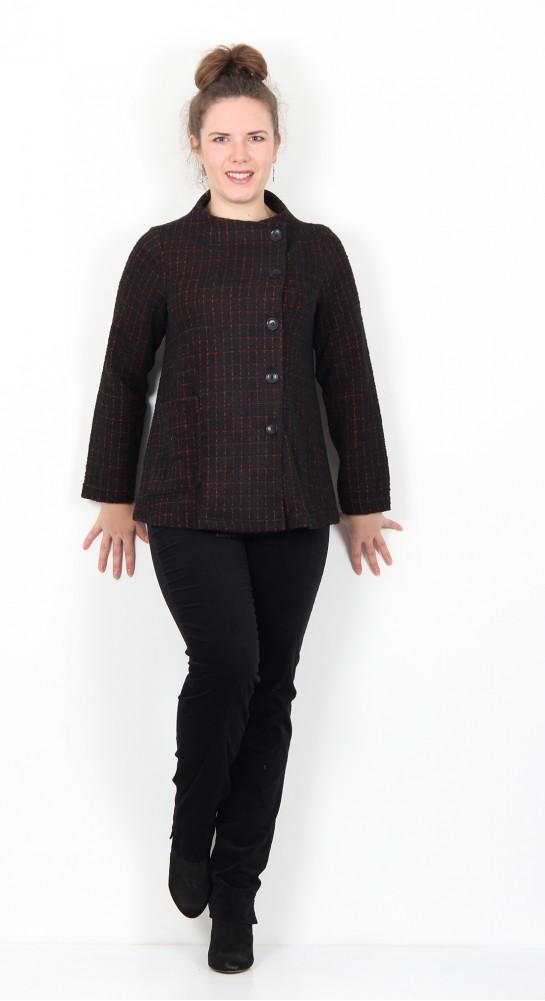 Sahara Clothing Graphic Boucle Jersey Jacket Black Fushia