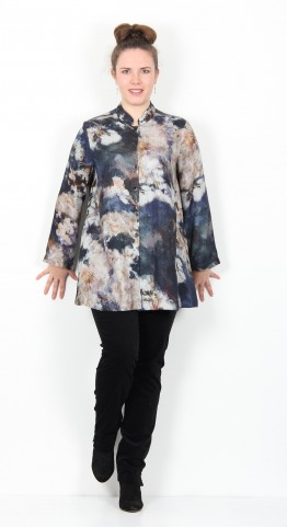 Sahara Clothing Japanese Blossom Print Shirt