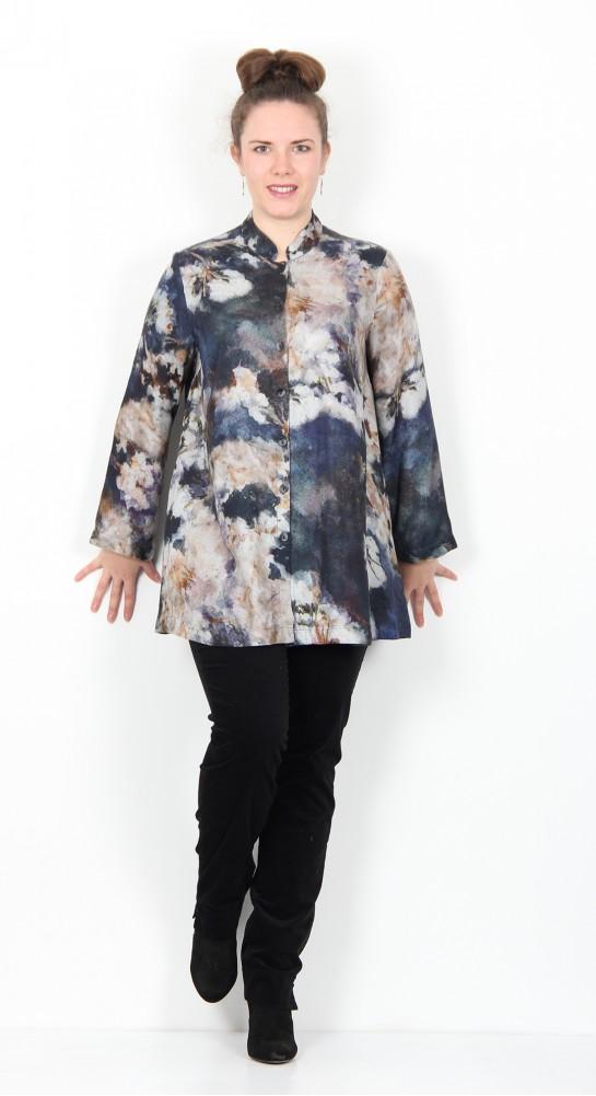 Sahara Clothing Japanese Blossom Print Shirt