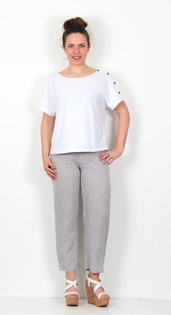 Sahara Clothing New Cross Dye Crop Trouser Smoke