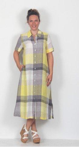 Sahara Clothing Madras Check Shirt Dress Multi