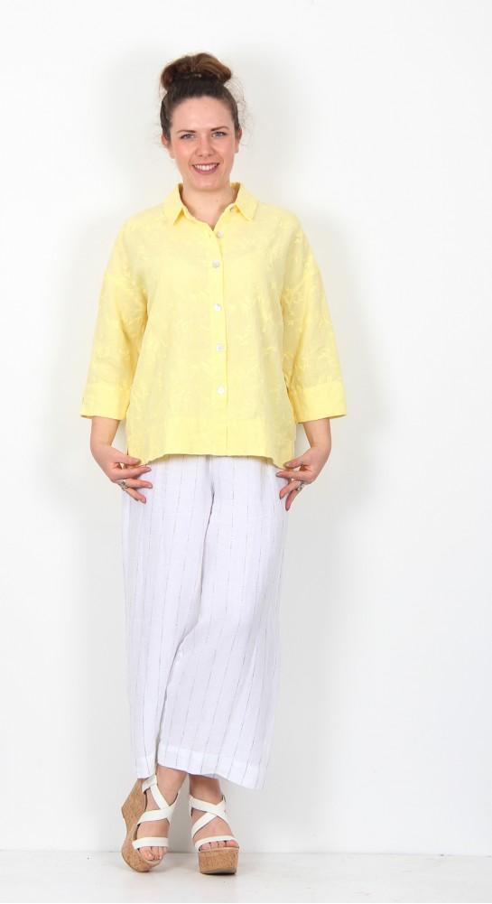 Sahara Clothing Floral Embroidery Boxy Shirt Sorbet