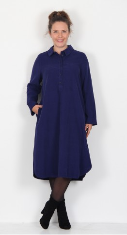 Sahara Clothing Cotton Babycord Shirt Dress Azule