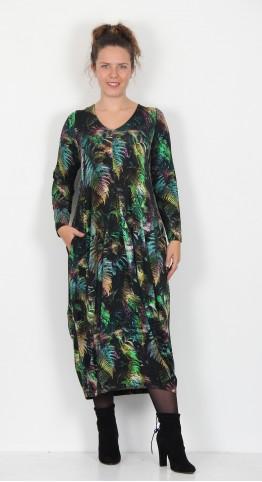 Sahara Clothing Fern Leaf Print Bubble Dress Multi