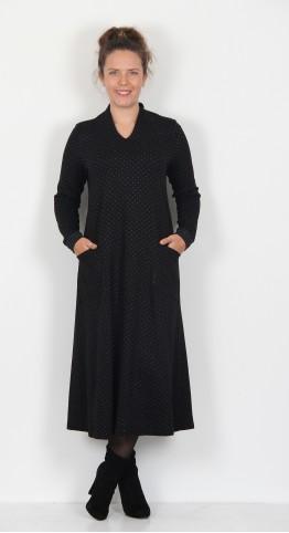 Sahara Clothing Multi Dot Jersey Dress Black/Multi