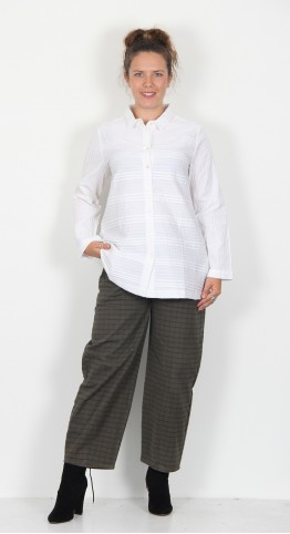 Sahara Clothing Pintuck Cotton Shirt White