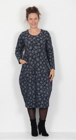 Sahara Clothing Circle Jersey Bubble Dress Night/Chalk