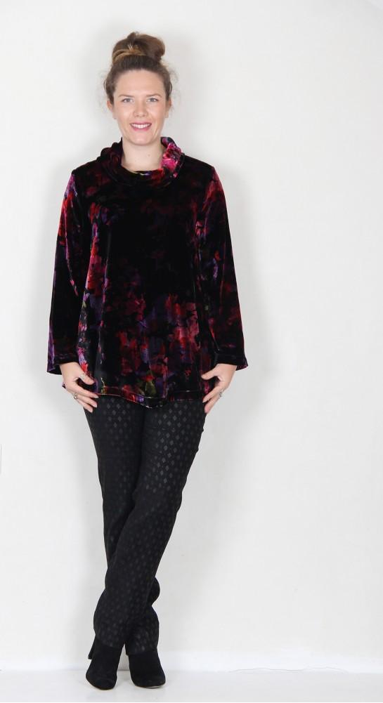 Sahara Clothing Bohemia Velvet Tunic Multi