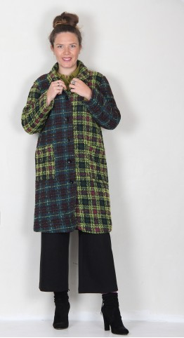 Sahara Clothing Check Patchwork Coat Multi