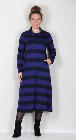 Sahara Clothing Paintbrush Jersey Dress Dark night/Azul