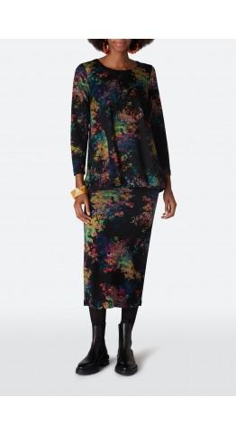 Sahara Clothing Colourful Spot Jersey Skirt Multi