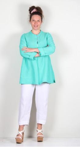 Sahara Clothing Cross Dye Linen Tunic Mint