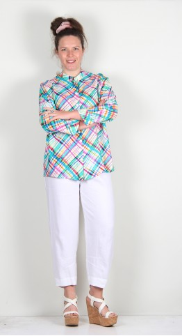 Sahara Clothing Diagonal Check Print Shirt Multi