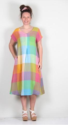 Sahara Clothing Artist Palette Linen Dress Multi