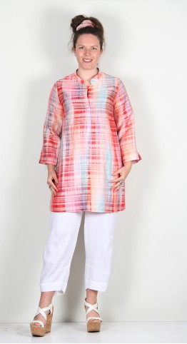 Sahara Clothing Rainbow Ikat Jacquard Shirt Multi
