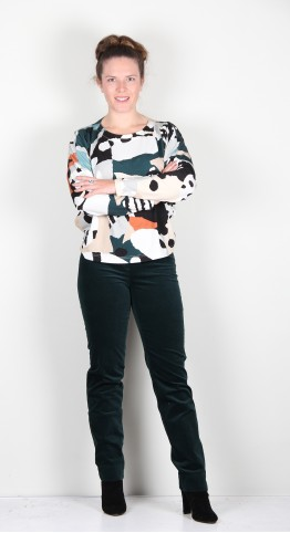 Sahara Clothing Abstract Jersey Print Easy Top Multi