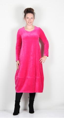 Sahara Clothing Velvet Jersey Bubble Dress Hot Pink