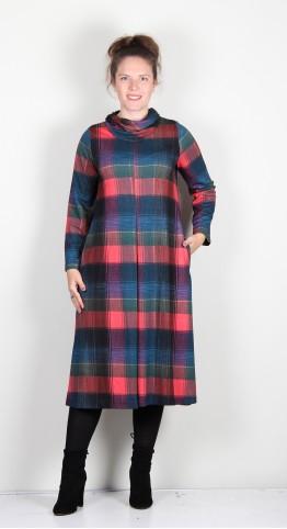 Sahara Clothing Graphic Check Jersey Dress Multi