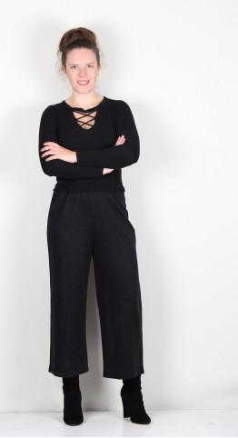 Sahara Clothing Marl Jersey Culottes Charcoal